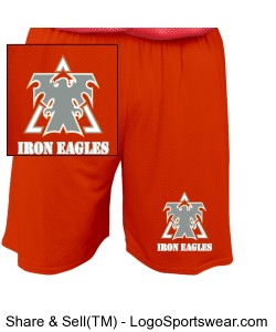 Orange Youth  Mesh Short by Russell Athletic Design Zoom