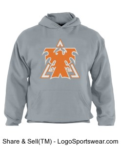 Grey Adult Russell  Dri POWER Pullover Hooded Sweatshirt Design Zoom