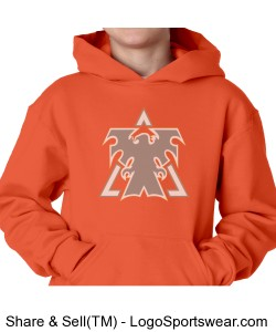 Orange Youth Hooded Pullover Design Zoom