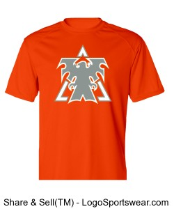 Orange Adult B-Dry Core Short-Sleeve Performance Tee by Badger Sports Design Zoom