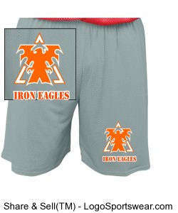 Grey Youth  Mesh Short by Russell Athletic Design Zoom
